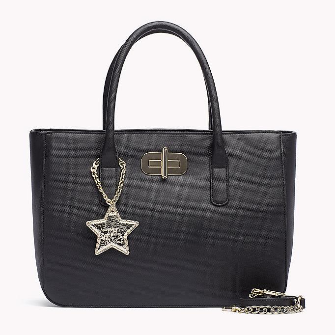 tommy hilfiger satchel black tommy hilfiger taschen accessoires. Black Bedroom Furniture Sets. Home Design Ideas