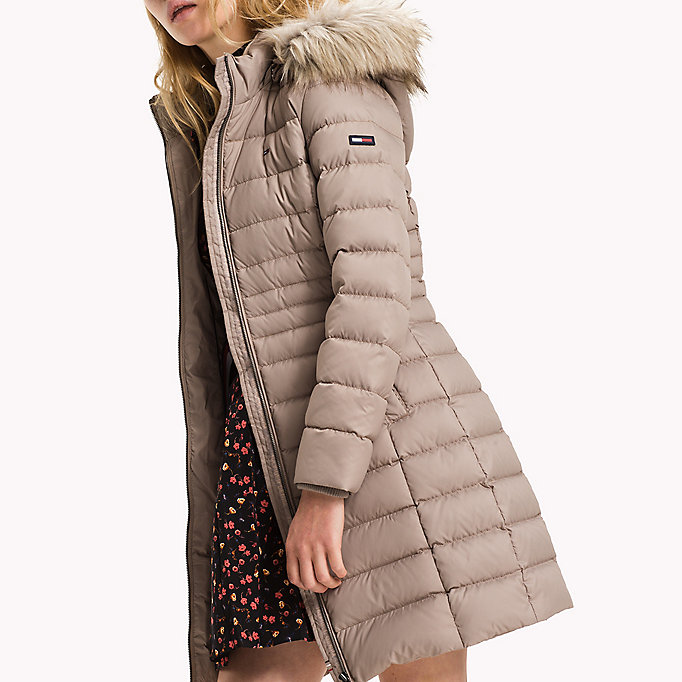 recycled polyester down coat tommy hilfiger official. Black Bedroom Furniture Sets. Home Design Ideas