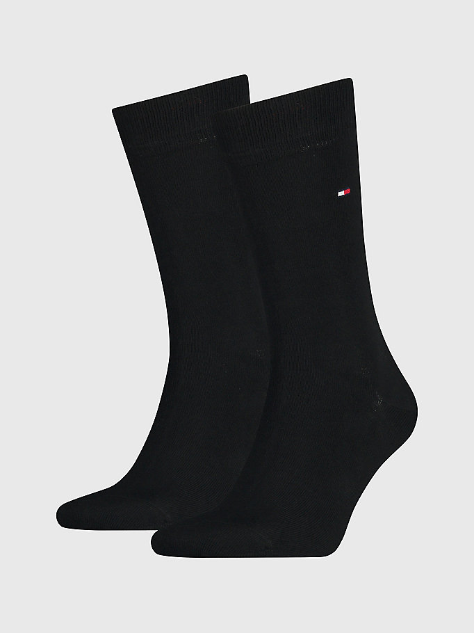 black 2-pack classic socks for men tommy hilfiger