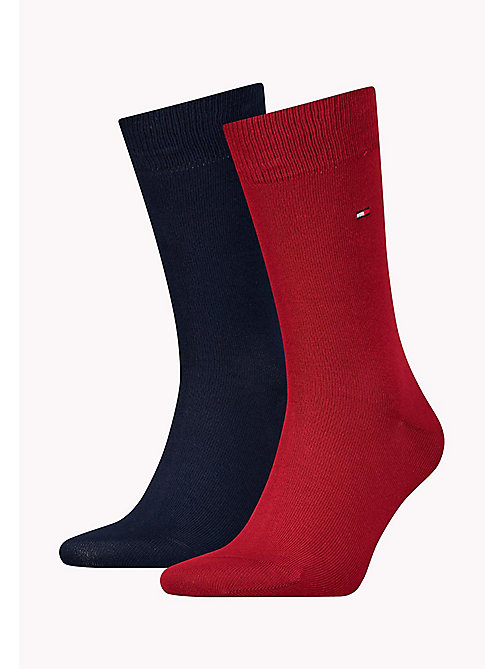 TOMMY HILFIGER 2 Pack Classic Socks - TIBETAN RED - TOMMY HILFIGER Socks - main image