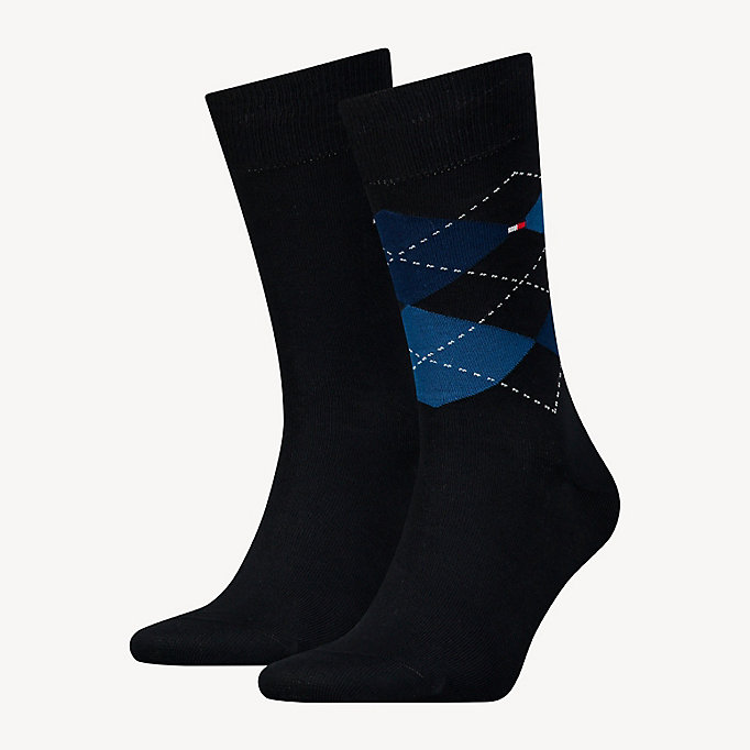 TOMMY HILFIGER 2 Pack Argyle Socks - TOMMY ORIGINAL - TOMMY HILFIGER Men - main image