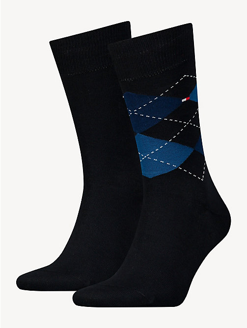 TOMMY HILFIGER 2 Pack Argyle Socks - TOMMY BLUE - TOMMY HILFIGER Socks - main image