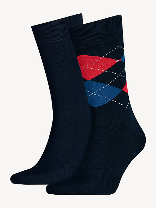 TOMMY HILFIGER 2 Pack Argyle Socks - TOMMY ORIGINAL - TOMMY HILFIGER Socks - main image