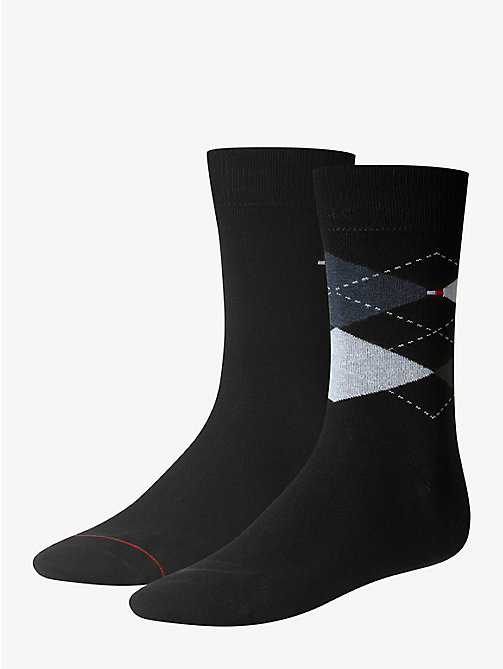 TOMMY HILFIGER 2 Pack Argyle Socks - DARK NAVY - TOMMY HILFIGER Socks - main image