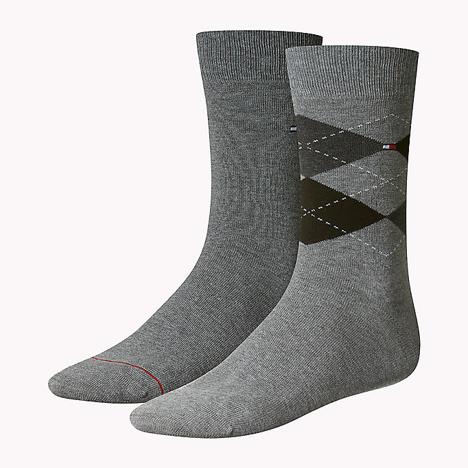 TOMMY HILFIGER 2 Pack Argyle Socks - KENSINGTON BROWN - TOMMY HILFIGER Men - main image