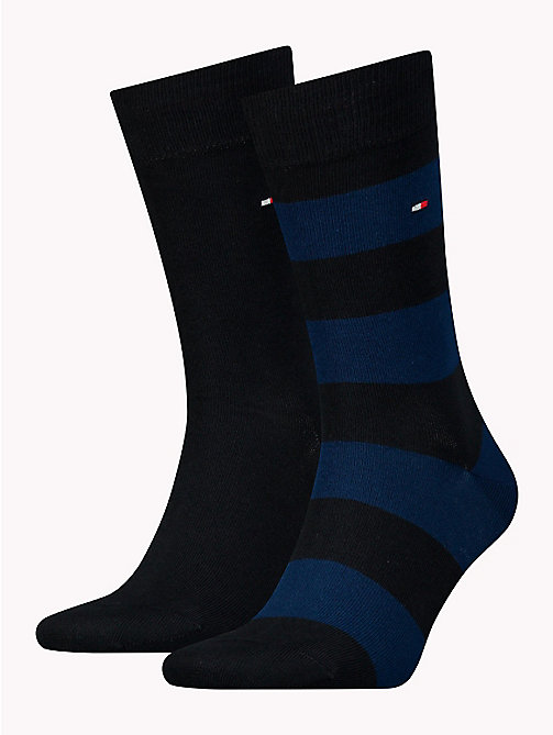 TOMMY HILFIGER 2-Pack Wide Stripe Rugby Socks - TOMMY BLUE - TOMMY HILFIGER Socks - main image