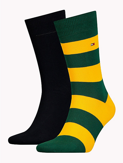 TOMMY HILFIGER 2-Pack Men's Rugby Socks - BLAZING YELLOW - TOMMY HILFIGER Socks - main image