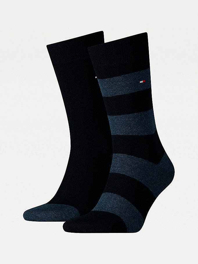 blue 2-pack rugby socks for men tommy hilfiger