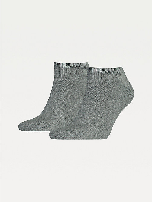 TOMMY HILFIGER 2-Pack Men's Trainer Socks - MIDDLE GREY MELANGE - TOMMY HILFIGER Socks - main image