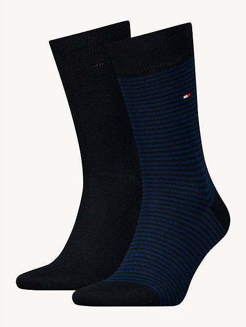 TOMMY HILFIGER 2 Pack Striped Socks - TOMMY BLUE - TOMMY HILFIGER Socks - main image