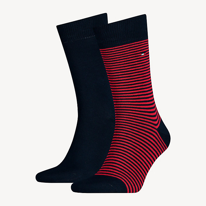 TOMMY HILFIGER 2-Pack Stripe Socks - ANTHRACITE - TOMMY HILFIGER Men - main image