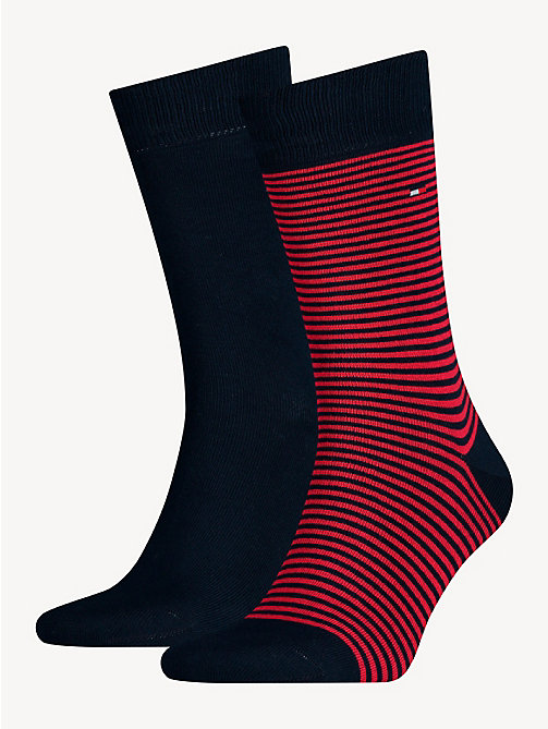 TOMMY HILFIGER 2 Pack Striped Socks - TOMMY ORIGINAL - TOMMY HILFIGER Socks - main image
