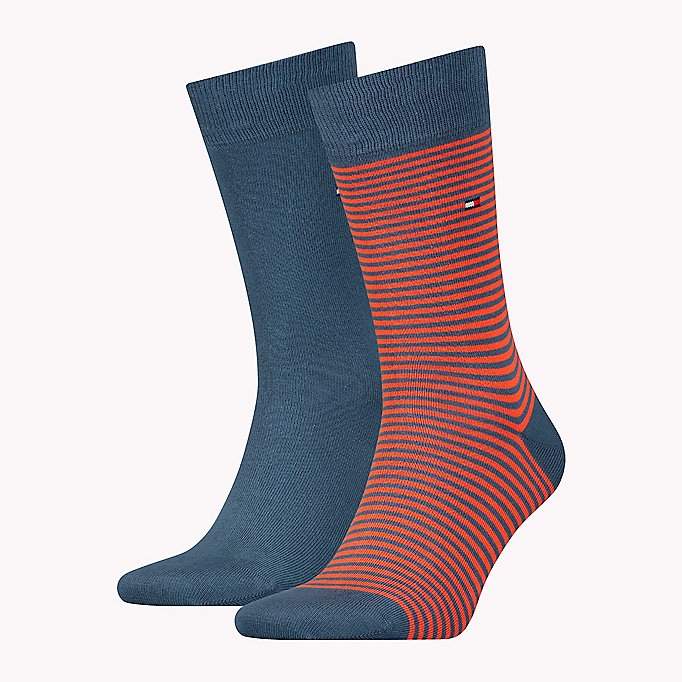 TOMMY HILFIGER 2-Pack Stripe Socks - BLACK - TOMMY HILFIGER Men - main image