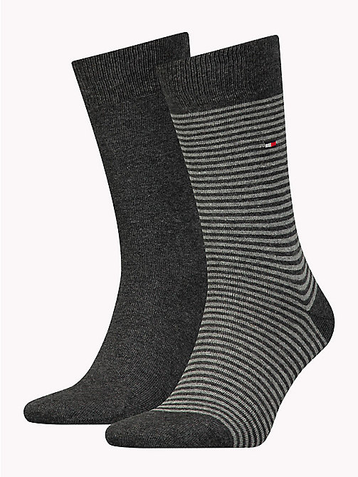 TOMMY HILFIGER 2-Pack Stripe Socks - ANTHRACITE - TOMMY HILFIGER Socks - main image