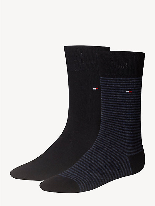 TOMMY HILFIGER 2 Pack Striped Socks - DARK NAVY - TOMMY HILFIGER Socks - main image
