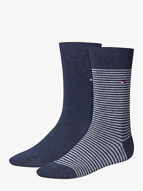 TOMMY HILFIGER 2 Pack Striped Socks - JEANS - TOMMY HILFIGER Socks - main image