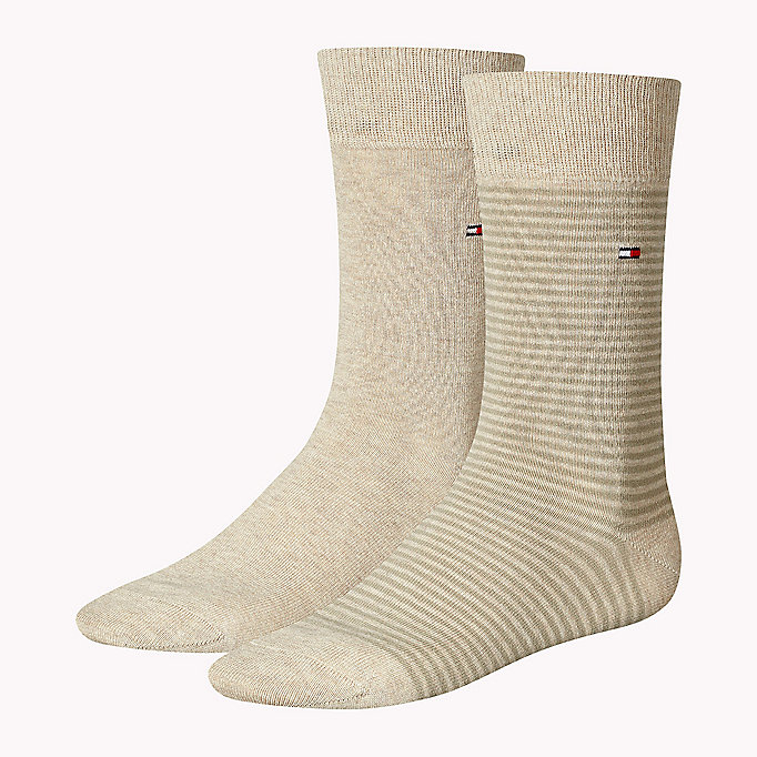 TOMMY HILFIGER 2-Pack Stripe Socks - MIDDLE GREY MELANGE - TOMMY HILFIGER Men - main image