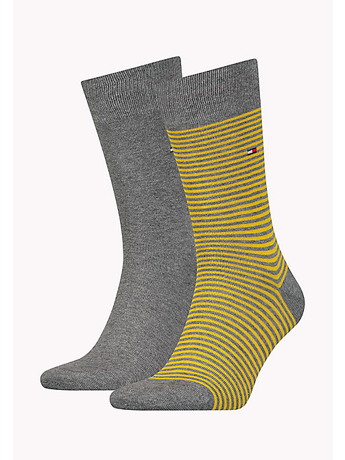 TOMMY HILFIGER 2-Pack Stripe Socks - SUNSHINE - TOMMY HILFIGER Socks - main image