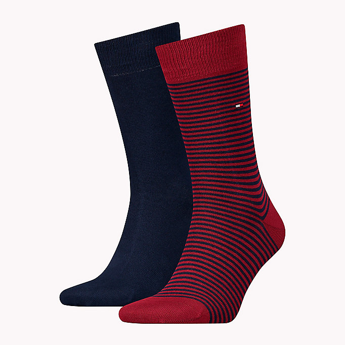 TOMMY HILFIGER 2-Pack Stripe Socks - BLUE COMBO - TOMMY HILFIGER Men - main image