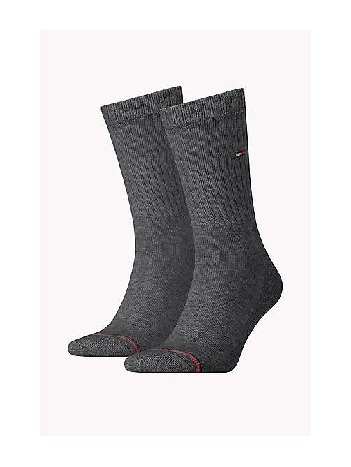TOMMY HILFIGER 2 Pack Sports Socks - ANTHRACITE MELANGE - TOMMY HILFIGER Socks - main image
