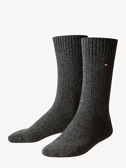 TOMMY HILFIGER TH MEN SOCK WASHINGTON CASHMERE BLEND 1P - ANTHRACITE MELANGE - TOMMY HILFIGER Calzini - immagine principale