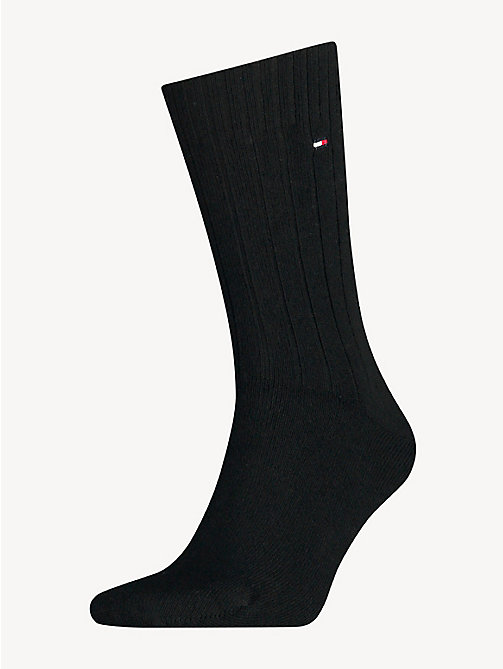 TOMMY HILFIGER TH MEN SOCK WASHINGTON CASHMERE BLEND 1P - BLACK - TOMMY HILFIGER Socks - main image