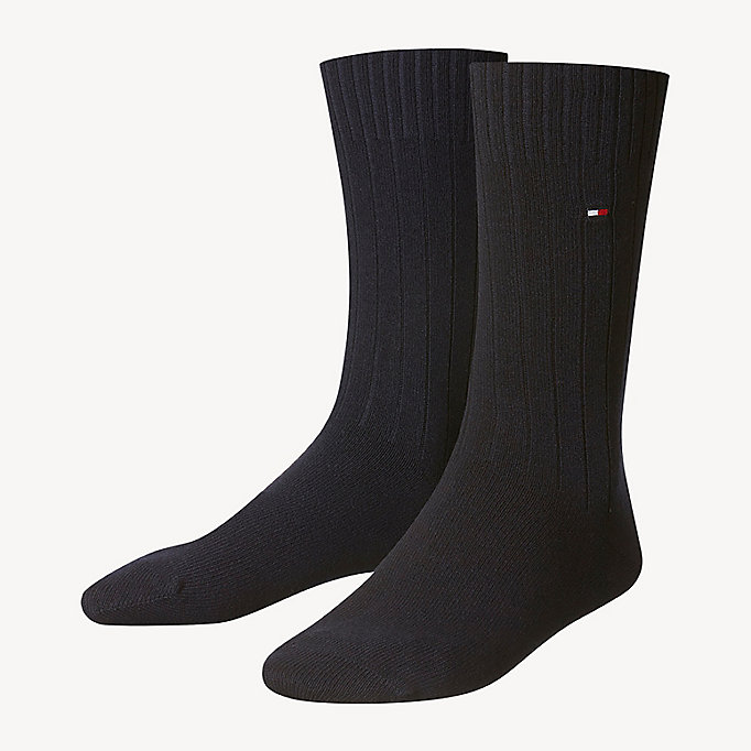 TOMMY HILFIGER TH MEN SOCK WASHINGTON CASHMERE BLEND 1P - ANTHRACITE MELANGE - TOMMY HILFIGER Kleidung - main image