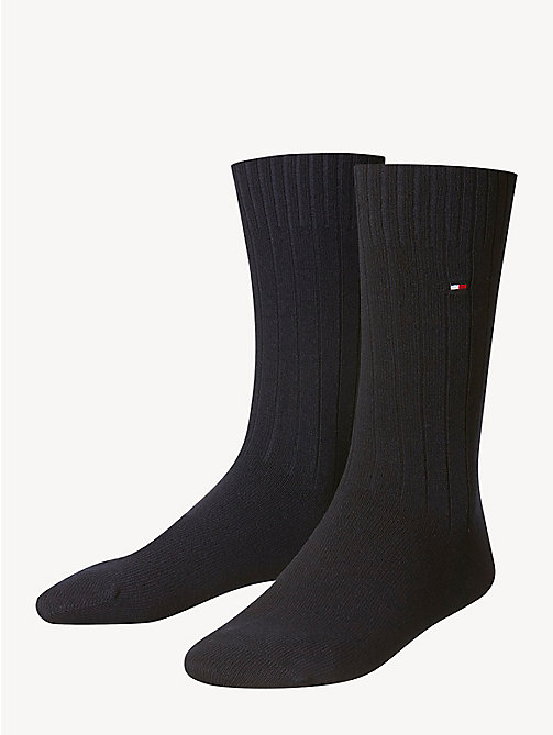 TOMMY HILFIGER TH MEN SOCK WASHINGTON CASHMERE BLEND 1P - DARK NAVY - TOMMY HILFIGER Calzini - immagine principale