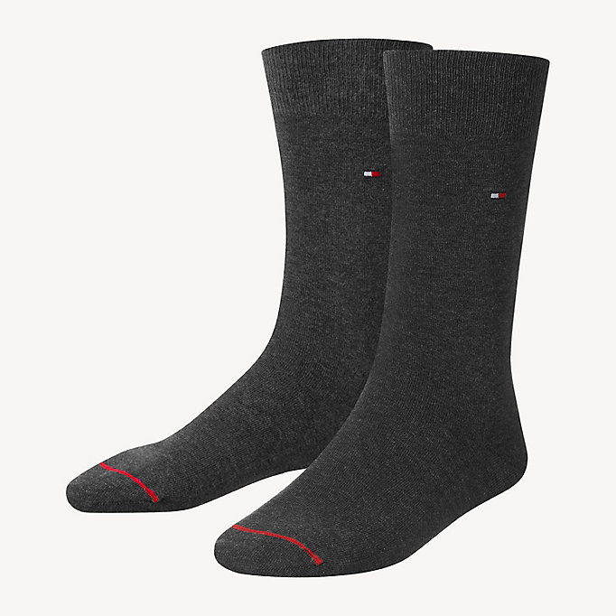 TOMMY HILFIGER Pima Cotton Sock - BLACK - TOMMY HILFIGER Men - main image