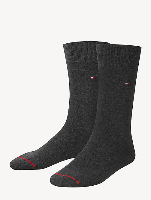 TOMMY HILFIGER Pima Cotton Sock - ANTHRACITE MELANGE - TOMMY HILFIGER Socks - main image