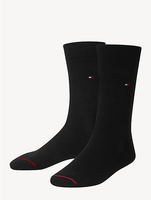 TOMMY HILFIGER Pima Cotton Sock - BLACK - TOMMY HILFIGER Socks - main image