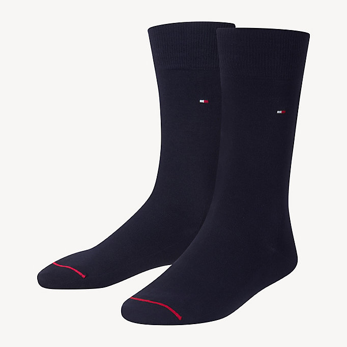 TOMMY HILFIGER Pima Cotton Sock - ANTHRACITE MELANGE - TOMMY HILFIGER Men - main image