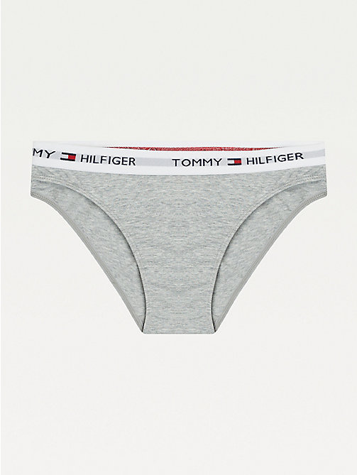 TOMMY HILFIGER Slip bikini in cotone - GREY HEATHER - TOMMY HILFIGER Slip - immagine principale
