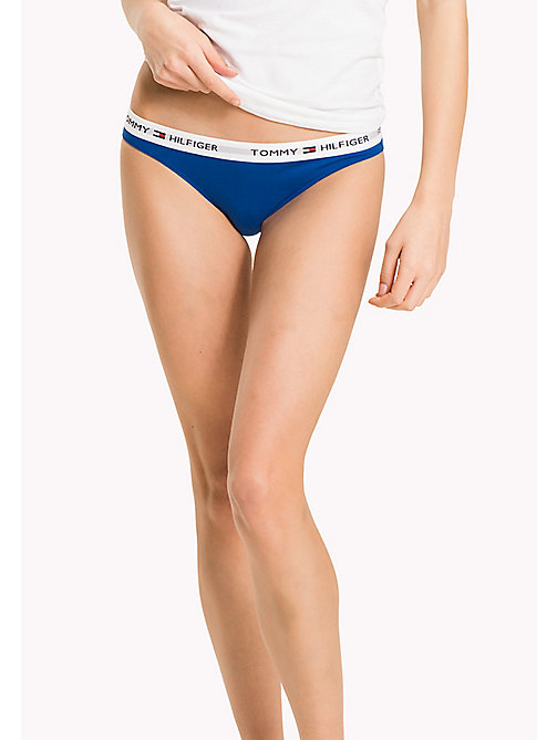 TOMMY HILFIGER Cotton Bikini Knickers - TURKISH SEA - TOMMY HILFIGER Briefs - main image
