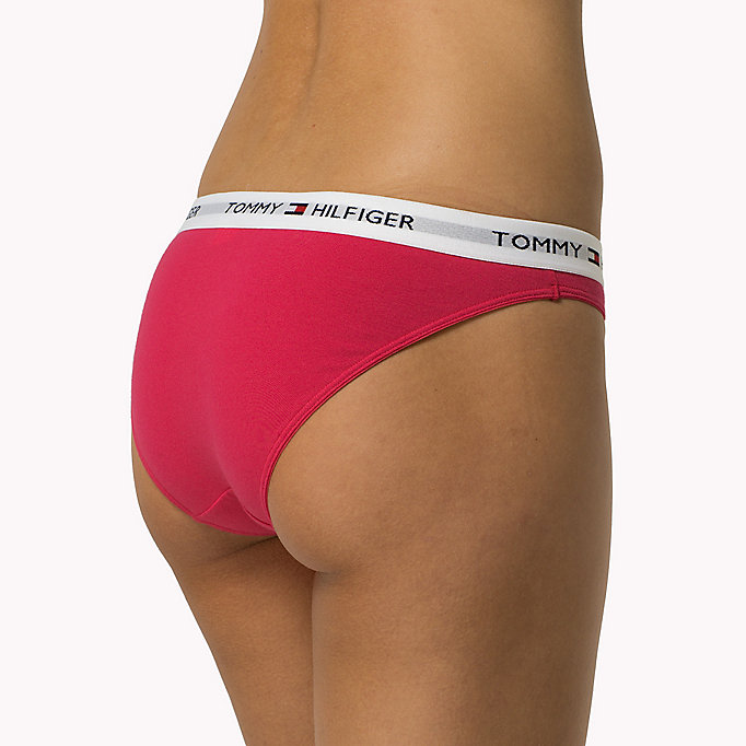 TOMMY HILFIGER Cotton Bikini Briefs - WHITE - TOMMY HILFIGER Women - detail image 1