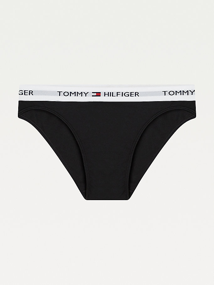 TOMMY HILFIGER Cotton Bikini Briefs - GREY HEATHER - TOMMY HILFIGER Women - main image