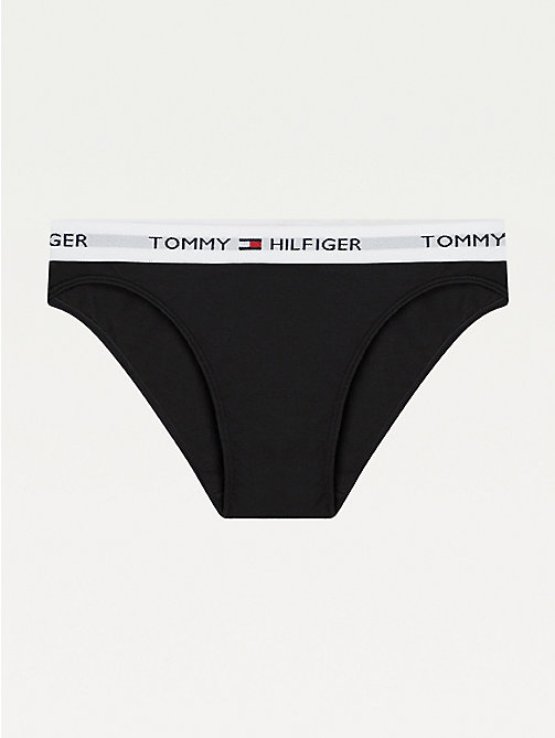 TOMMY HILFIGER Cotton Bikini Knickers - BLACK - TOMMY HILFIGER Briefs - main image