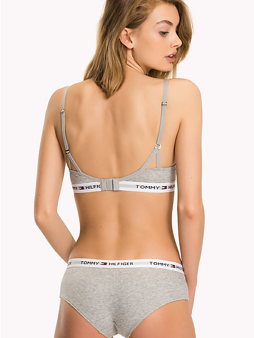 TOMMY HILFIGER Bold Underband T-Shirt Bra - GREY HEATHER - TOMMY HILFIGER Bras - detail image 1