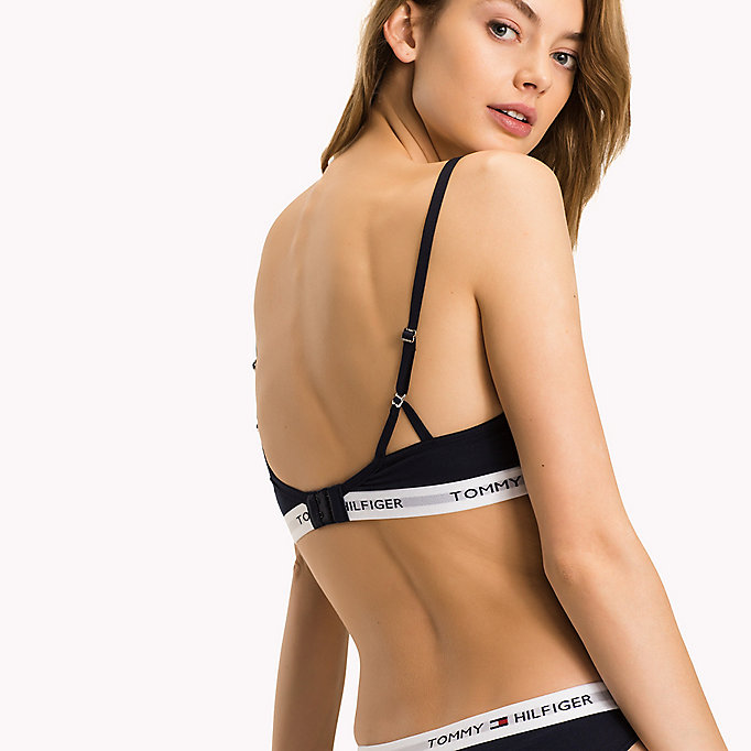 TOMMY HILFIGER Iconic T-Shirt Bra - BLACK - TOMMY HILFIGER Women - detail image 1