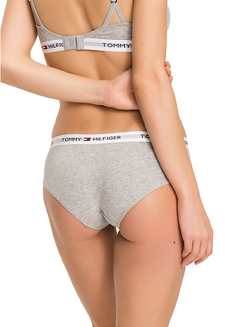 TOMMY HILFIGER Stretch Cotton Knickers - GREY HEATHER - TOMMY HILFIGER Briefs - detail image 1