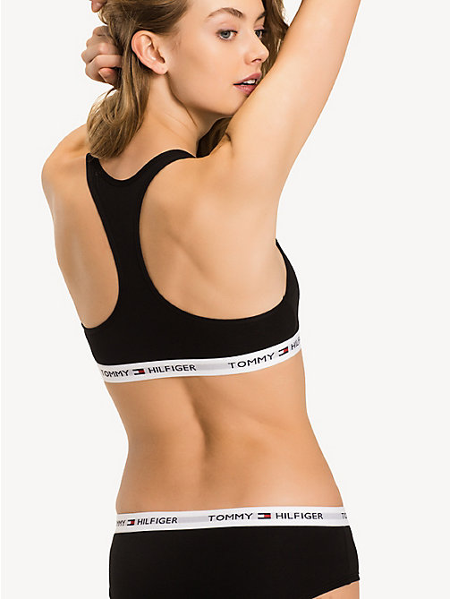 TOMMY HILFIGER Pull-On Race Back Sporty Bra - BLACK - TOMMY HILFIGER Bras - detail image 1