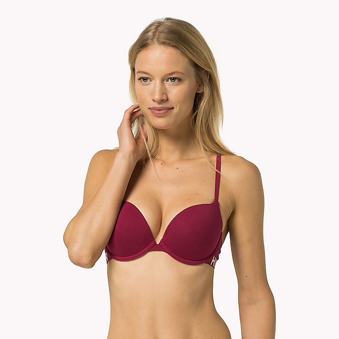 TOMMY HILFIGER Reggiseno push up in cotone - GREY HEATHER- EUR - TOMMY HILFIGER Donne - immagine principale