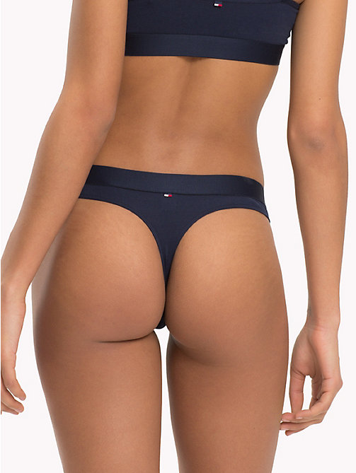 TOMMY HILFIGER Contrast Waistband Thong - PALE BLUSH - TOMMY HILFIGER Briefs - detail image 1