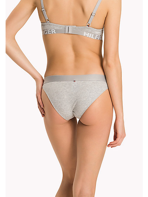 TOMMY HILFIGER Contrast Waistband Bikini Briefs - GREY HEATHER- EUR - TOMMY HILFIGER Briefs - detail image 1