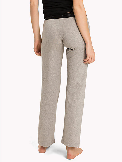 TOMMY HILFIGER Stretch Cotton Leggings - GREY HEATHER - TOMMY HILFIGER Bottoms - detail image 1