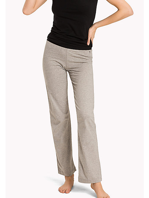 TOMMY HILFIGER Stretch Cotton Leggings - GREY HEATHER - TOMMY HILFIGER Bottoms - main image