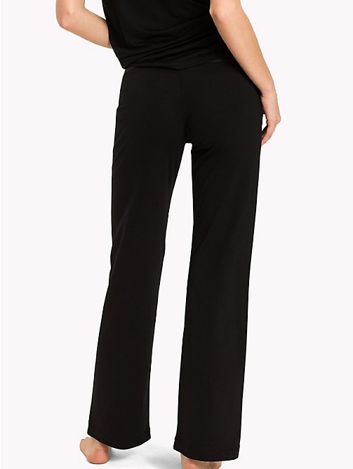 TOMMY HILFIGER Stretch Cotton Leggings - BLACK - TOMMY HILFIGER Bottoms - detail image 1