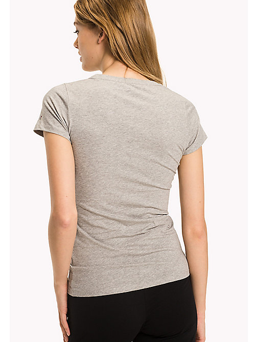 TOMMY HILFIGER Iconic T-Shirt - GREY HEATHER - TOMMY HILFIGER Lounge & Nightwear - detail image 1