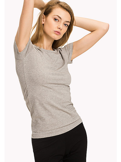 TOMMY HILFIGER Iconic T-Shirt - GREY HEATHER - TOMMY HILFIGER Lounge & Nightwear - main image