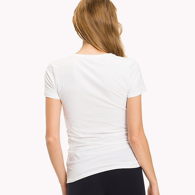 TOMMY HILFIGER Simple Stretch Cotton T-Shirt - BLACK - TOMMY HILFIGER Women - detail image 1